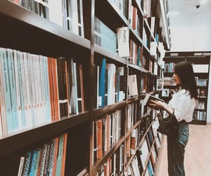 aesthetic, books, and brown image