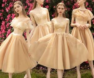 girl, wedding, and long dress image