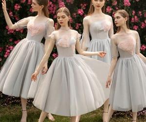 fashion, tulle dress, and bridesmaid dress image