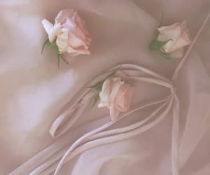 aesthetic, soft pink, and bedsheets image