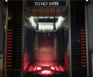 do not enter, sci-fi, and elevator image