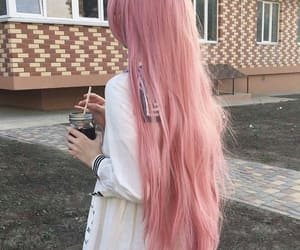 hair, pink, and fashion image