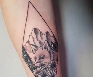 flowers, fox, and first tattoo image