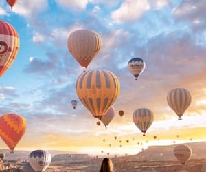 air balloons, beautiful, and sky image