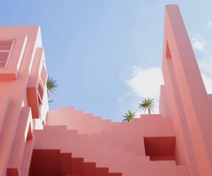 pink, sky, and architecture image