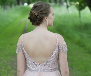 beautiful, Prom, and brown hair image
