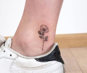 ankle, flower, and ink image