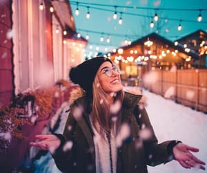 happiness, snow, and illustrations image