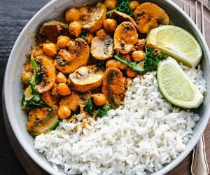 curry, rice, and vegan image