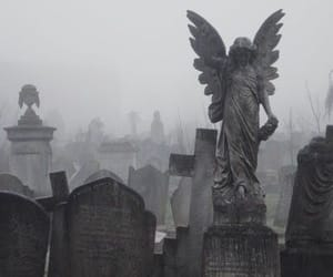 angel and graveyard image