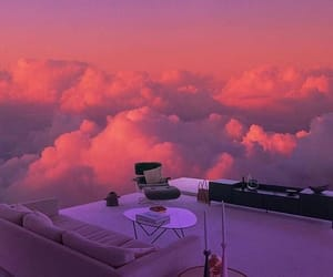clouds, aesthetic, and pink image