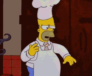 cooking, the simpsons, and food image