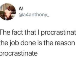 funny, homework, and procrastinate image