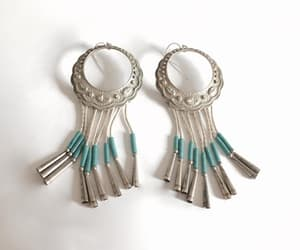 etsy, sterling silver, and classic hoops image