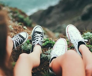 converse, girl, and friends image