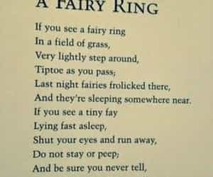william shakespeare and fairy ring poem image