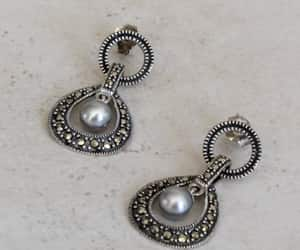 etsy, pearl earrings, and natural pearls image