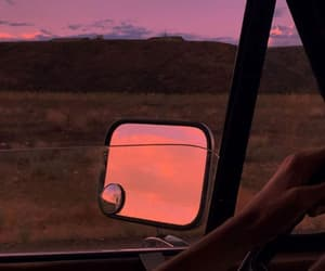 sunset, car, and aesthetic image