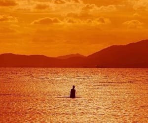 orange, water, and aesthetic image