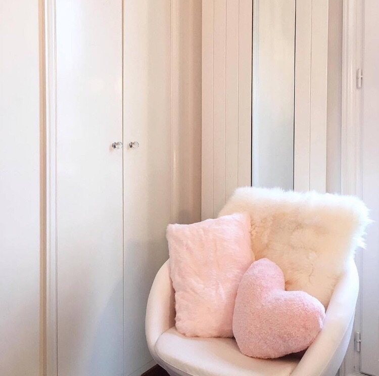 pillow, pink, and chair image