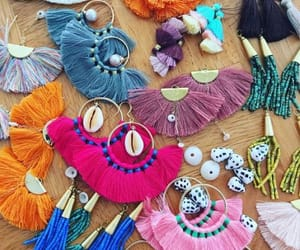 earrings and fringe earrings image