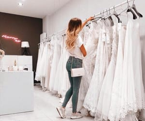 wedding, dresses, and girl image