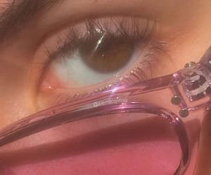 pink, aesthetic, and eyes image