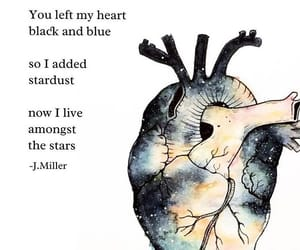 break up, galaxy, and heart image