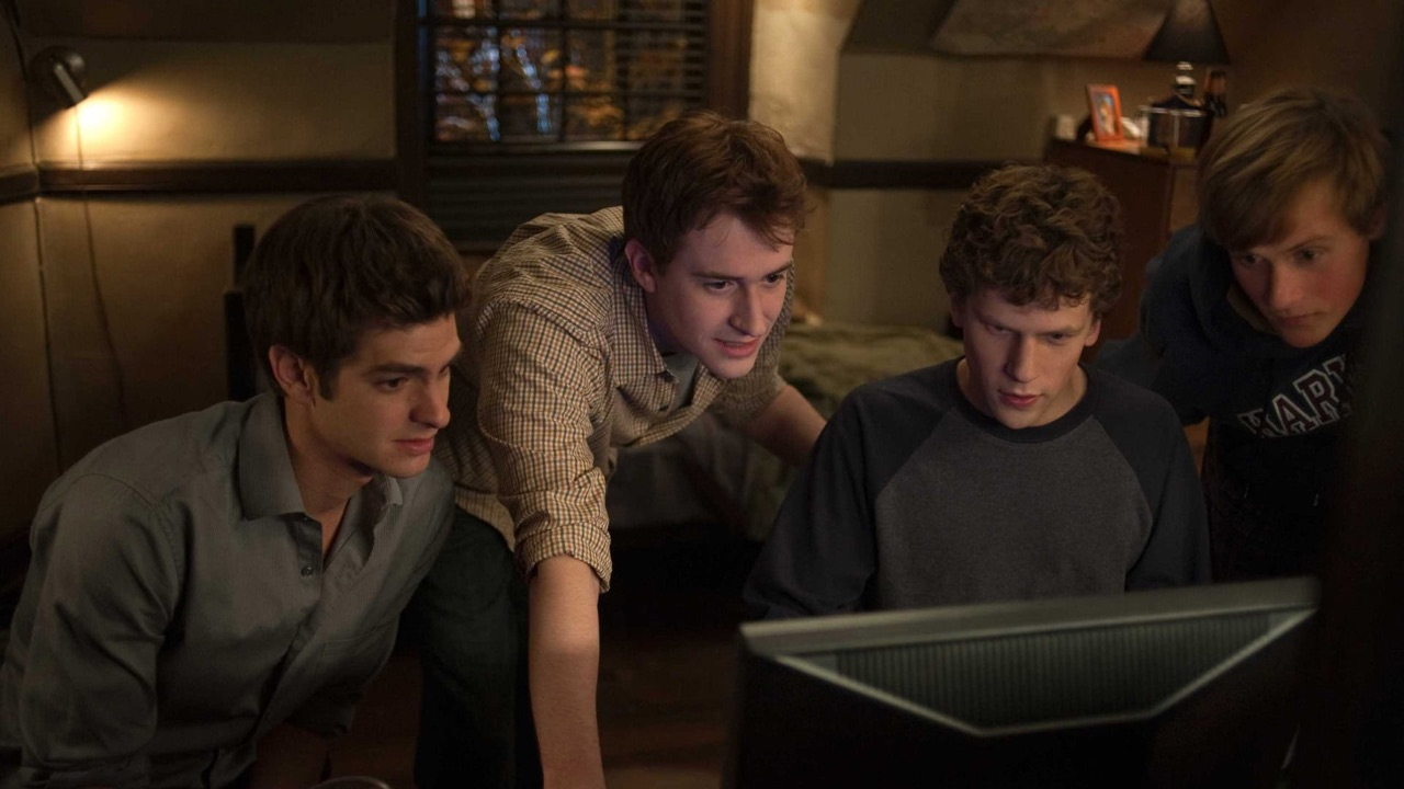 college, film, and the social network image