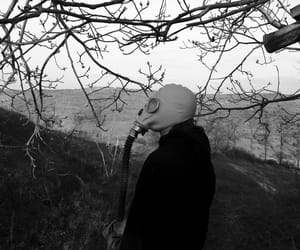 black and white, cold, and creepy image