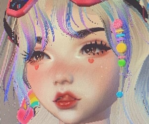 imvu, pink, and cute image