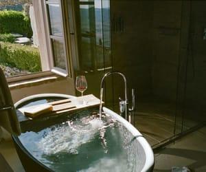 bathroom, bath, and bathtub image