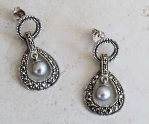 etsy, gift for her, and marcasite earrings image