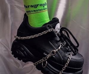 green, black, and chains image