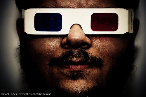 3d and glasses image