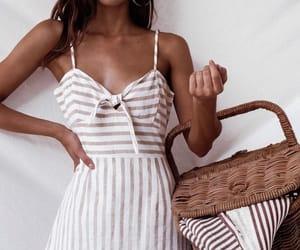 dress, fashion, and picnic image