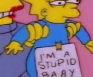 stupid, simpsons, and baby image