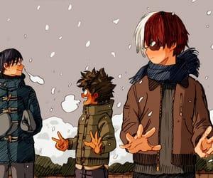 snow, manga boy, and manga color image