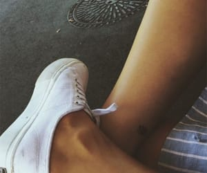 legs, shoes, and tattoo image