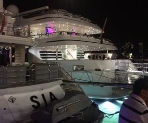 boat and night image