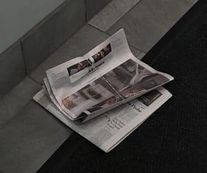 aesthetic, dark, and newspaper image