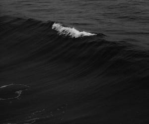 black, sea, and waves image