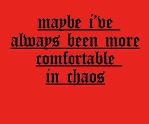 chaos and red image