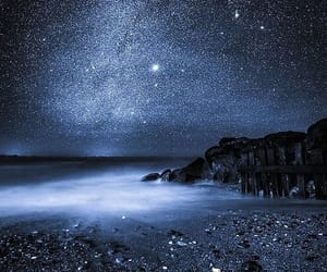 stars, night, and blue image