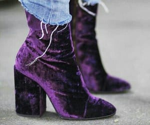 fashion, purple, and shoes image
