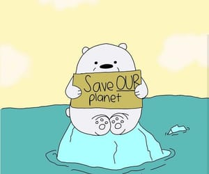 bear, ocean, and save the planet image