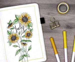 art, flowers, and inspiration image