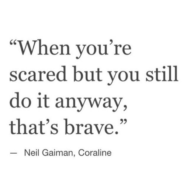 brave, quotes, and scared image