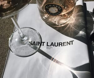 drink, saint laurent, and wine image