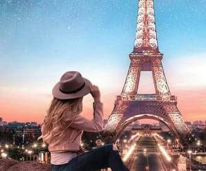 eiffel tower, france, and follow me image